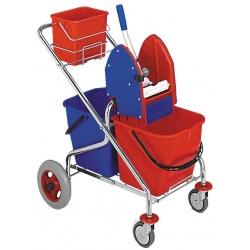 Vozík 2x17 REKORD METRO, sklapovací, ždímač, kbelík