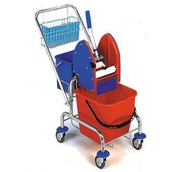 Vozík CLAROL 1x17 Plus komplet - ždímač,kbelík, košík na rukojeť