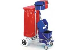 Vozík JEPY ždímač, 2 x kbelík, držák pytle