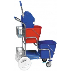Vozík KAMZÍK ždímač + 2 košíky