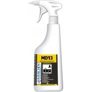 MD13 KIT - Ultra koncentrovaný kuchyňský odmašťovač a čistič, 6x40 ml+láhev