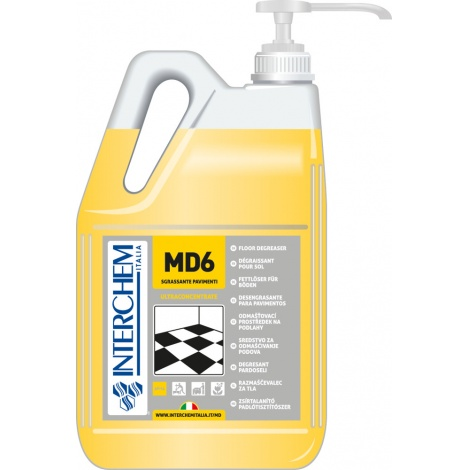MD6 - BOX 2x 5l + pumpa, Super koncentrovaný odmašťovač podlah, pumpa 20 ml