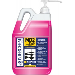 MD2 PLUS - BOX 2x 5l + pumpa, Ultra-koncentrovaný čistič podlah s květinovou vůní