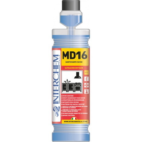 MD16 - láhev 1l, Ultra koncentrovaný sanitizér a čistič kuchyní