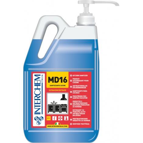 MD16 - BOX 2x 5l + pumpa, Ultra koncentrovaný sanitizér a čistič kuchyní, pumpa 30 ml