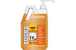 MD9 - BOX 2x 5l + pumpa, Ultra-koncentrovaný alkalický koupelnový čistič, pumpa 30 ml