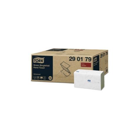 TORK Singlefold zelené papírové ručníky - Karton