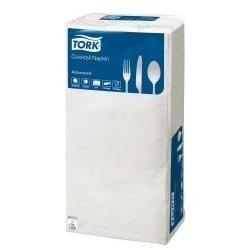 TORK ubrousky koktejlové, bílá, 1 vrstv., 24 x 24 cm, 1/4sklad, 4000 ks