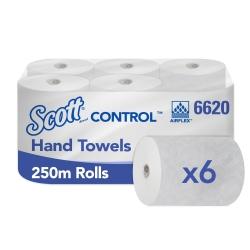 SCOTT CONTROL – Papírové ručníky v roli, 6 rl., 250 m, 1 vr.