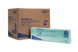 WYPALL – X80 – Skládané čistící utěrky, zelené, 10 x 25 ks, 41 x 33 cm
