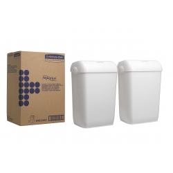KIMBERLY–CLARK – AQUARIUS – Odpadkový koš, bílý, 2 ks/bal