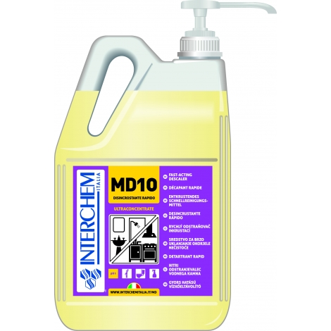MD10 - Kanystr 5L, Ultra koncentrovaný odstraňovač vodního kamene, bez pumpy